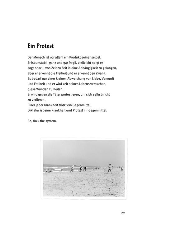 Bild -Ein Protest aus Lost and Found Gedichtband